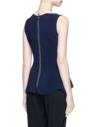 Back View - Click To Enlarge - Roksanda - 'Carla' scalloped V-neck sleeveless peplum top