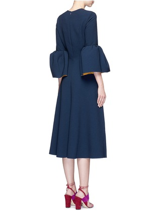 Back View - Click To Enlarge - Roksanda - 'Yasmin' lantern sleeve textured dress