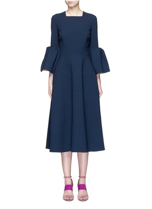 Main View - Click To Enlarge - Roksanda - 'Yasmin' lantern sleeve textured dress
