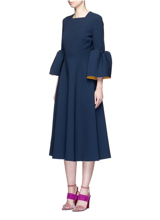 Figure View - Click To Enlarge - Roksanda - 'Yasmin' lantern sleeve textured dress