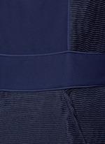 'Eryn' inset crepe flared plissé dress