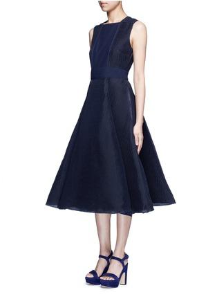 Figure View - Click To Enlarge - Roksanda - 'Eryn' inset crepe flared plissé dress