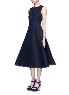 Roksanda'Eryn' inset crepe flared plissé dress
