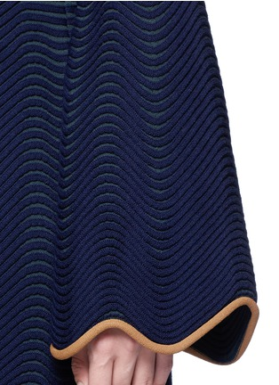 Detail View - Click To Enlarge - Roksanda - 'Gail' wavy piped knit dress
