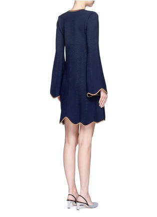 Back View - Click To Enlarge - Roksanda - 'Gail' wavy piped knit dress