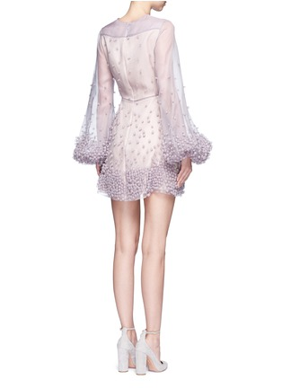 Back View - Click To Enlarge - Roksanda - 'Erin' bubble appliqué organza dress