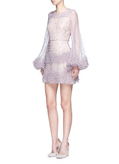 ROKSANDA'Erin' bubble appliqué organza dress