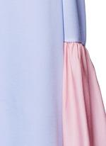 'Fuji' back ruffle hem colourblock dress