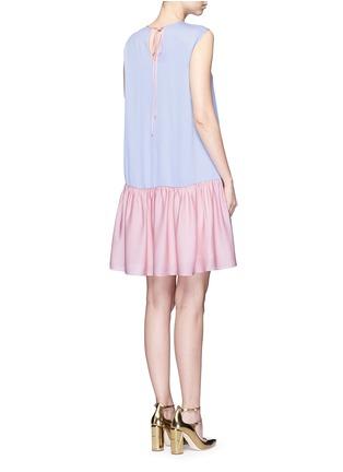 Back View - Click To Enlarge - Roksanda - 'Fuji' back ruffle hem colourblock dress