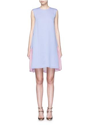Main View - Click To Enlarge - Roksanda - 'Fuji' back ruffle hem colourblock dress
