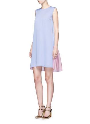 Figure View - Click To Enlarge - Roksanda - 'Fuji' back ruffle hem colourblock dress