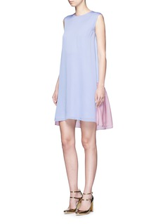 Roksanda'Fuji' back ruffle hem colourblock dress