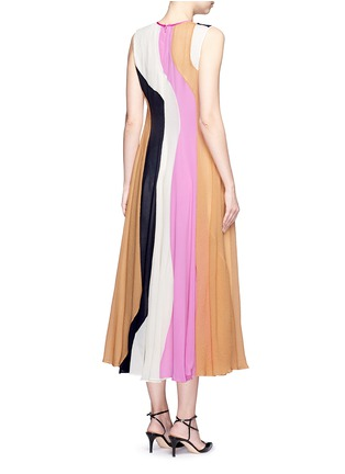 Back View - Click To Enlarge - Roksanda - 'Rebecca' colourblock silk seersucker midi dress
