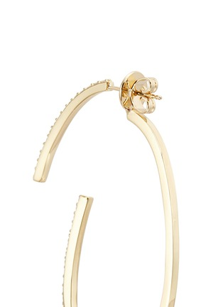 Detail View - Click To Enlarge - Phyne By Paige Novick - 'Converge' diamond pavé 18k gold hoop earrings