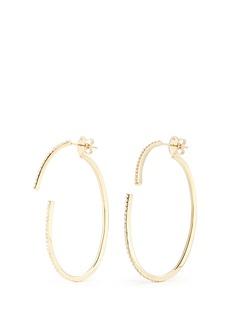 Phyne By Paige Novick'Converge' diamond pavé 18k gold hoop earrings