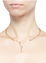 'Unstable' Akoya pearl 18k gold choker necklace