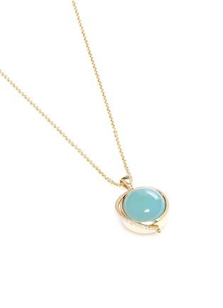 Phyne By Paige Novick-'Building Blocks' diamond pavé 18k gold opal pendant necklace