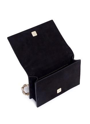 Detail View - Click To Enlarge - TOMASINI - '40 Squares' mini mirror plate suede shoulder bag