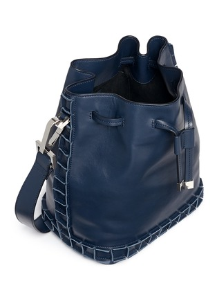 Detail View - Click To Enlarge - TOMASINI - '52 Squares' medium leather bucket bag