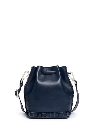 Back View - Click To Enlarge - TOMASINI - '52 Squares' medium leather bucket bag