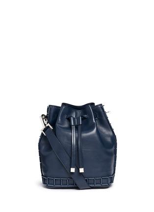 Main View - Click To Enlarge - TOMASINI - '52 Squares' medium leather bucket bag