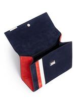 'ETT008' stripe suede satchel