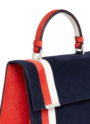 Detail View - Click To Enlarge - TOMASINI - 'ETT008' stripe suede satchel