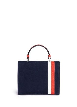 Back View - Click To Enlarge - TOMASINI - 'ETT008' stripe suede satchel