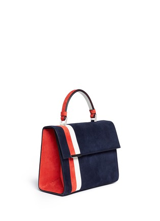 Front View - Click To Enlarge - TOMASINI - 'ETT008' stripe suede satchel