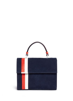 Main View - Click To Enlarge - TOMASINI - 'ETT008' stripe suede satchel