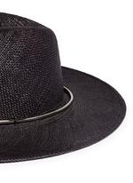 'Begonia' metal ring straw Panama hat