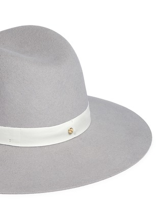 Detail View - Click To Enlarge - Janessa Leone - 'Henningsen' leather band wool felt fedora hat