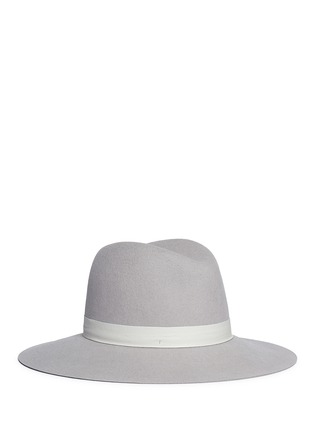 Main View - Click To Enlarge - Janessa Leone - 'Henningsen' leather band wool felt fedora hat