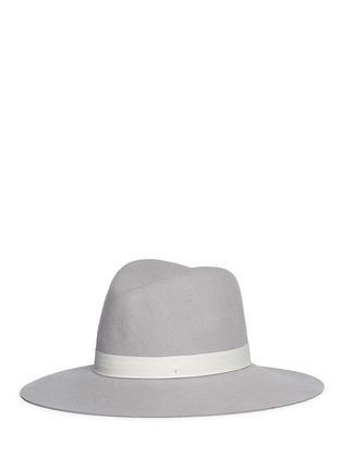 Figure View - Click To Enlarge - Janessa Leone - 'Henningsen' leather band wool felt fedora hat