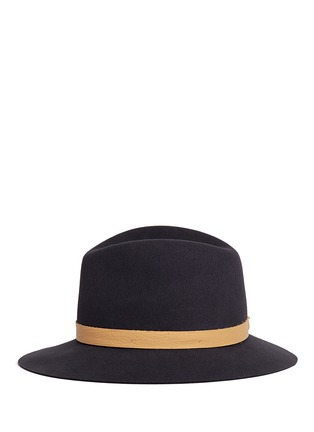 Figure View - Click To Enlarge - Janessa Leone - 'Lucy' leather band wool felt fedora hat