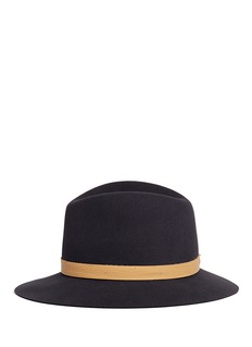 Janessa Leone 'Lucy' leather band wool felt fedora hat