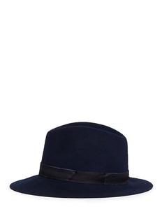 Janessa Leone'Jemma' organza band wool felt fedora hat