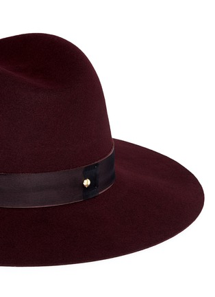Detail View - Click To Enlarge - Janessa Leone - 'Amara' organza band wool felt fedora hat