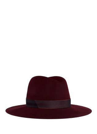 Main View - Click To Enlarge - Janessa Leone - 'Amara' organza band wool felt fedora hat