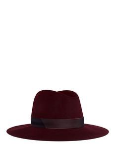 Janessa Leone'Amara' organza band wool felt fedora hat