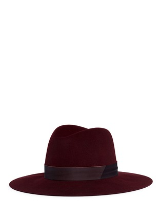 Figure View - Click To Enlarge - Janessa Leone - 'Amara' organza band wool felt fedora hat