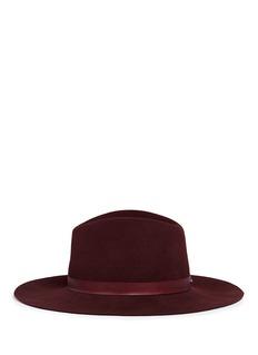 Janessa Leone'Lea' leather band wool felt hat