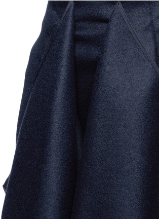 Detail View - Click To Enlarge - Cédric Charlier - Drape front wool midi skirt
