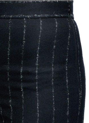 Detail View - Click To Enlarge - Cédric Charlier - Pinstripe split cuff skinny fit pants