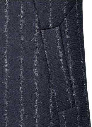 Detail View - Click To Enlarge - Cédric Charlier - Pinstripe revers lapel long vest