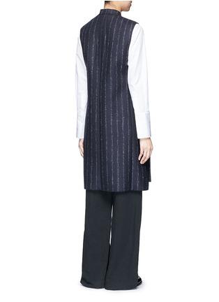 Cédric Charlier-Pinstripe revers lapel long vest