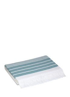 Hamam Marine bath sheet - White/Teal