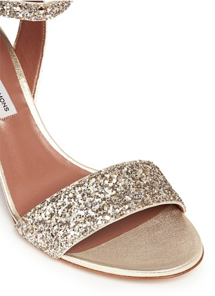 Detail View - Click To Enlarge - TABITHA SIMMONS - 'Leticia' coarse glitter sandals