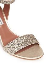 'Leticia' coarse glitter sandals