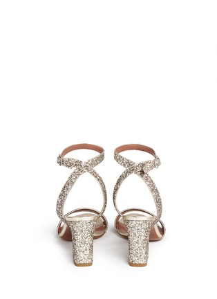 Back View - Click To Enlarge - TABITHA SIMMONS - 'Leticia' coarse glitter sandals
